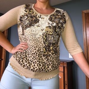 White Stag 3/4 Sleeve Top